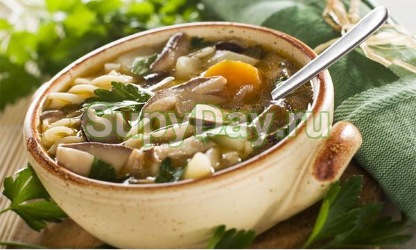 Сельдереевый суп с грибами
