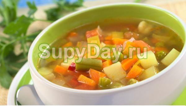 Сельдереевый суп c зеленой спаржевой фасолью