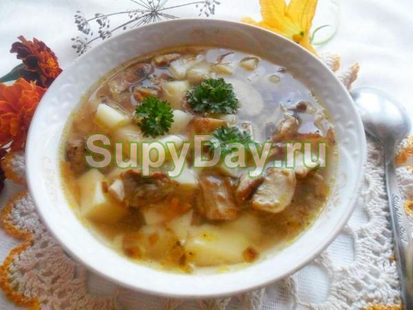 Суп из сушёных белых грибов «Ароматный»