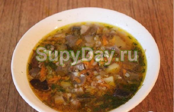 Суп из белых грибов с гречкой