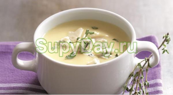 Диетический суп с легким плавленым сыром
