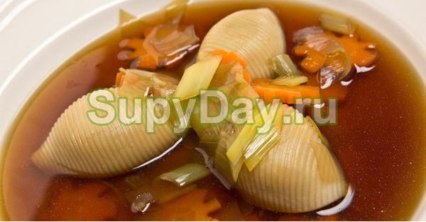 Грибной суп с макаронами от шеф-повара