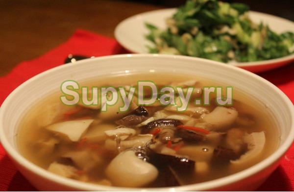 Суп из подберезовиков, простой
