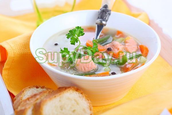 Суп из консервированной горбуши и манной крупы