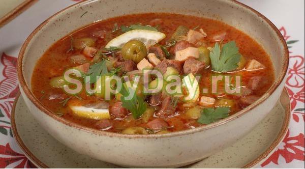 Суп солянка с грибами «Новогодняя»