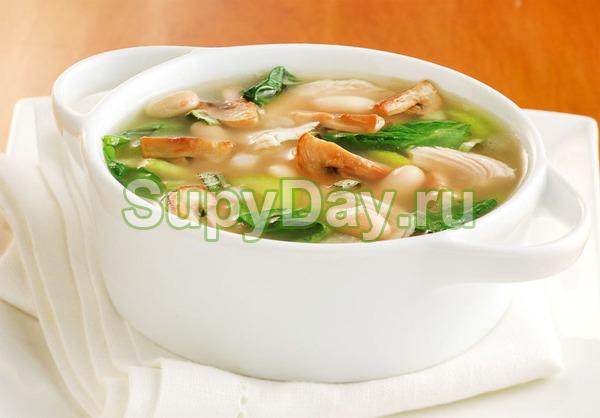 Яичный суп с грибами