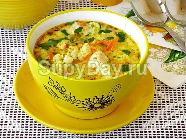 Яичный суп в мультиварке
