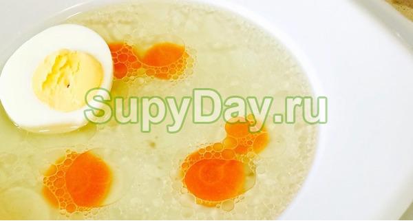 """""""Римский"""" яичный суп"""
