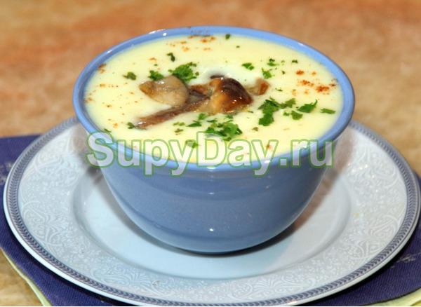 Суп из маслят с кукурузой