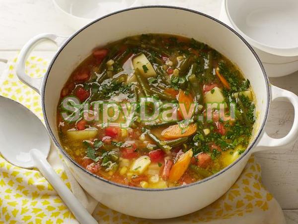 Овощной постный суп без картофеля