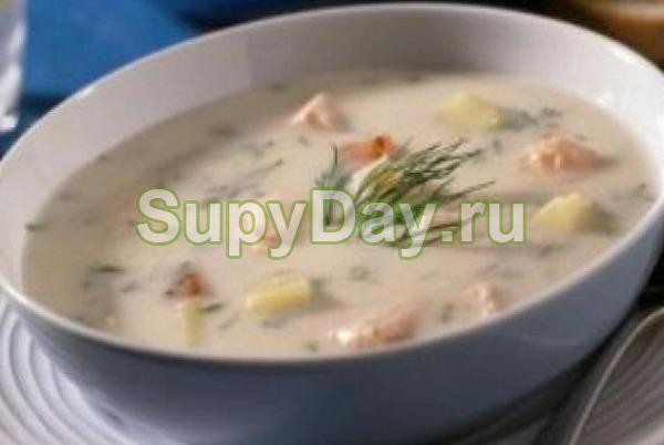 Нежный сливочный суп с горбушей