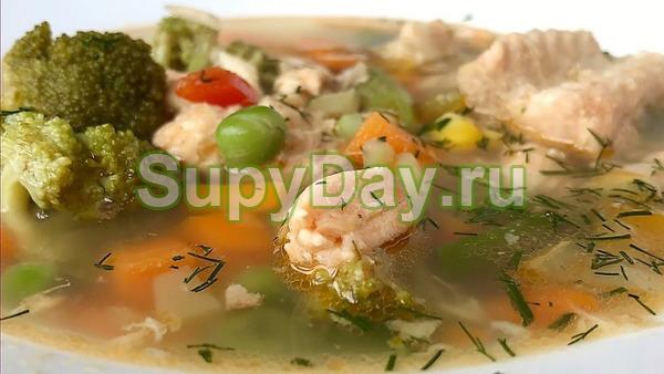Суп из горбуши с овощами
