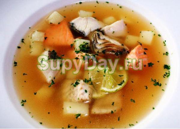 Рыбный суп из консервов горбуши и сайры