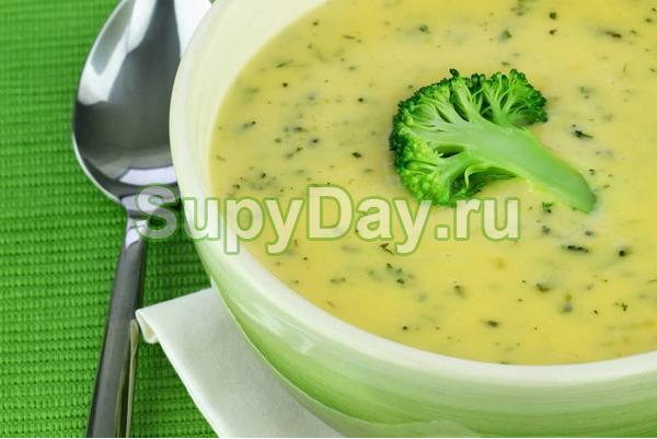 Суп - пюре из брокколи и цветной капусты