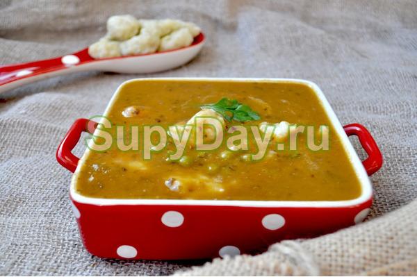 Суп-пюре с творожными клецками