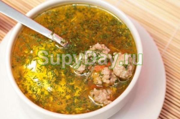 Гречневый суп с тефтелями рецепт с фото