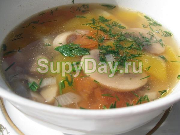 Гороховый суп с грибами для диетического питания
