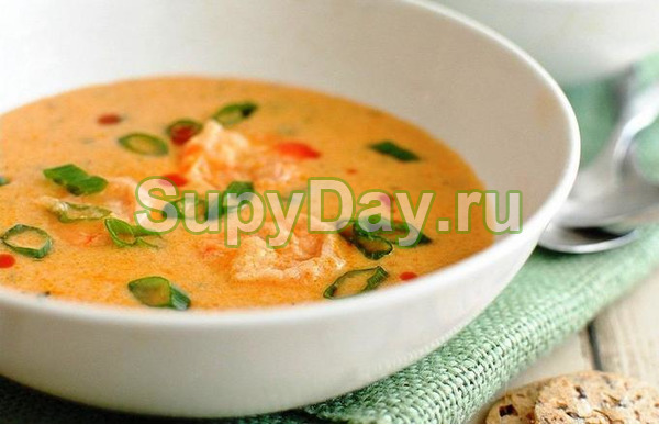 Гороховый суп с грибами и лимонным соком