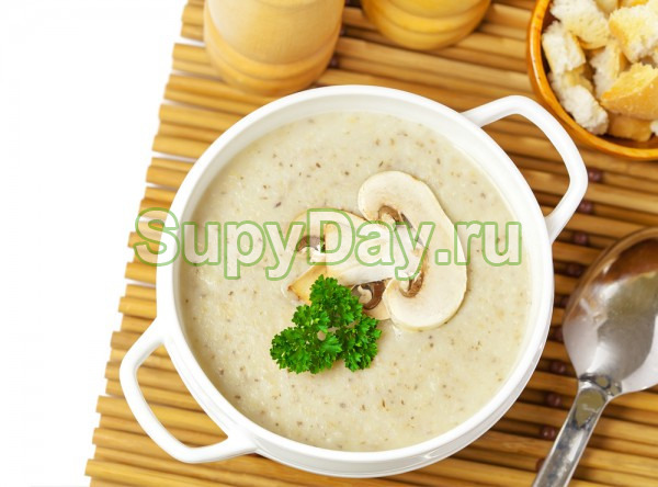 Крем-суп из овощей с боровиками