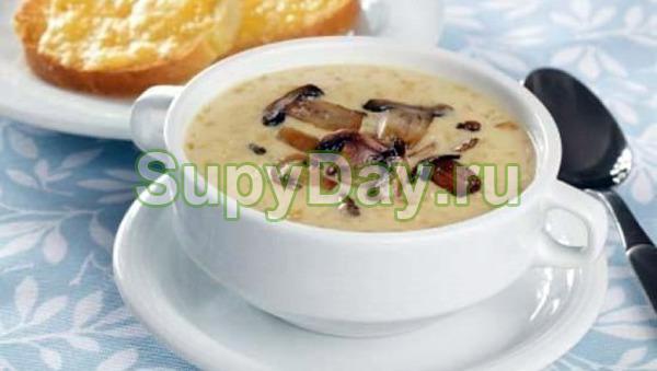 Дешевый суп из сушеных белых грибов