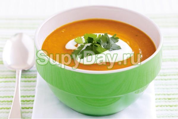 Суп пюре из кабачков с чечевицей