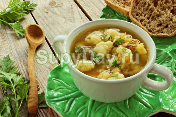Классический рецепт супа из цветной капусты на мясном бульоне