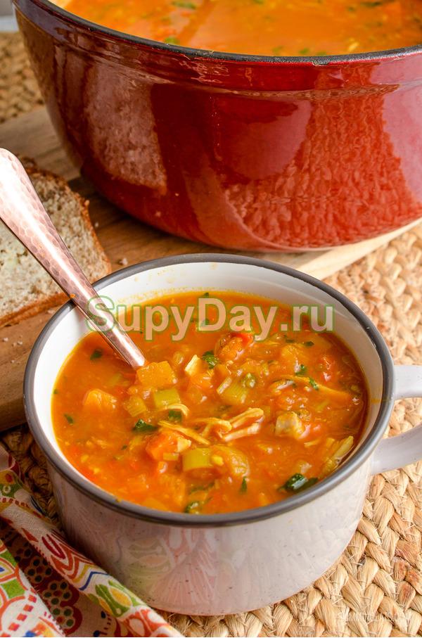 Постный суп для похудения с овощами