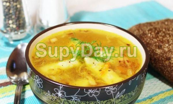 Простой суп картофельный с мясом