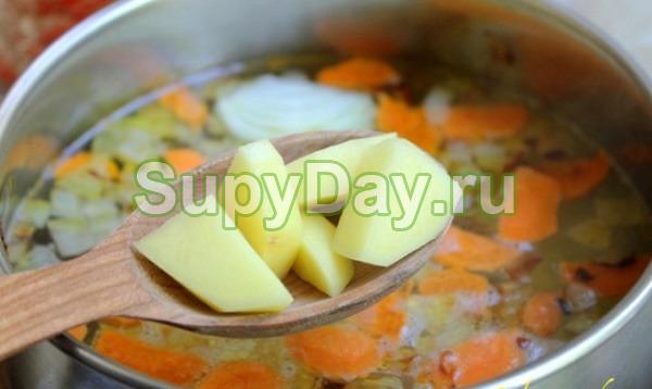 Легкий в приготовлении суп картофельный с мясом
