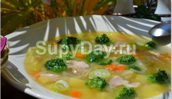 Куриный картофельный суп с мясом