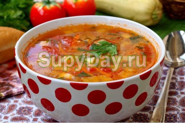 Суп из молодых кабачков и картошки