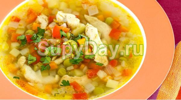 Кабачковый суп с картошкой и с добавлением сливок