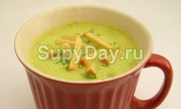 Сливочный суп-пюре с кабачками и картошкой