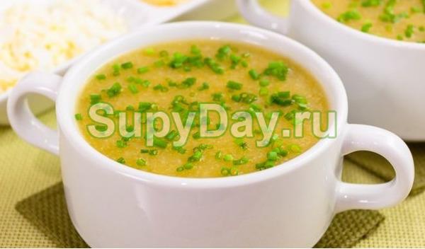 Быстрый кабачковый крем-суп с картошкой